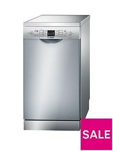 Bosch SPS53M08GB9-Place Slimline Dishwasher - Silver