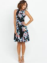 Split Strap Scuba Dress