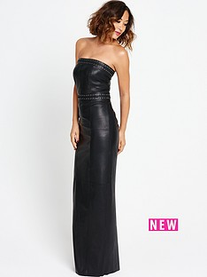 myleene-klass-leather-maxi-dress-with-pleat-detail