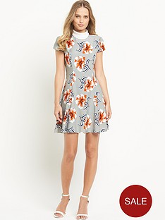 definitions-high-neck-printed-dress