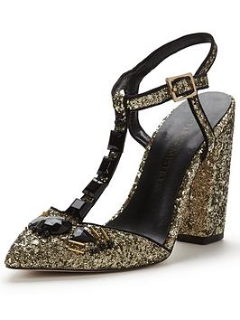 Little Mistress Block Heel Glitter Shoe