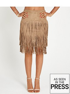 rochelle-humes-fringe-pencil-skirt