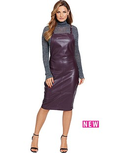 samantha-faiers-leather-look-pinafore-dress