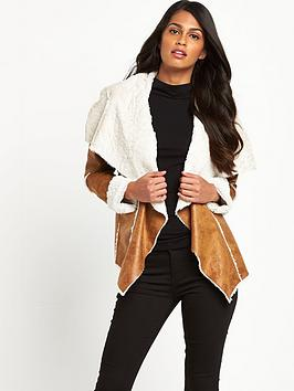V by Very WATERFALL FAUX SHEARLING JACKET