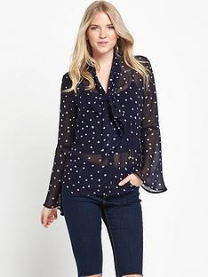 v-by-very-fluted-sleeve-pussybownbspblouse