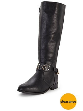 shoe-box-tyra-stud-detail-knee-boot-with-elasticated-back-nbspstandard-fit