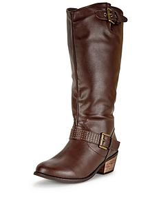 so-fabulous-shay-western-detail-studded-calf-boot-extra-wide-fit-brown