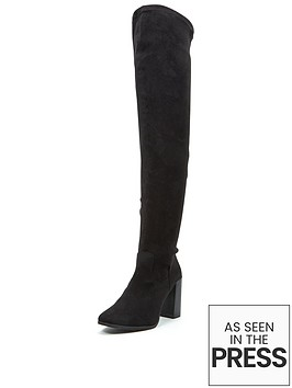 shoe-box-lauren-thigh-high-stretch-boot-imi-suede-black