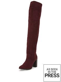 shoe-box-lauren-thigh-high-stretch-boot-imi-suede-dark-red