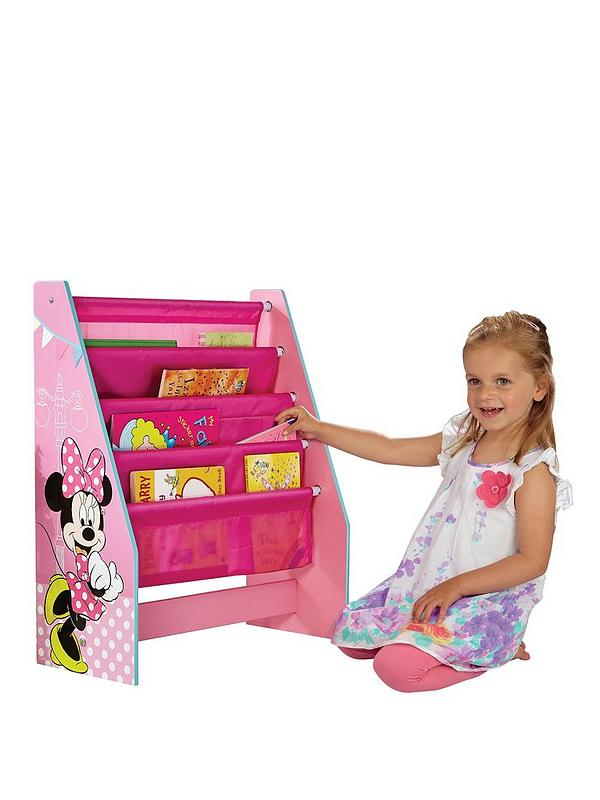 MINNIE MOUSE SLING BOOKCASE PINK CHILDRENS ROOM STORAGE BOOKS NEW FREE P+P