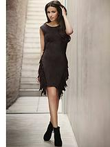 Michelle Keegan Fringe Faux Suede Dress