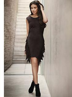 lipsy-michelle-keegan-fringe-faux-suede-dress