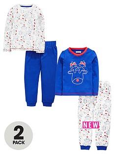 ladybird-toddler-girls-2-pack-fun-rudolf-print-pyjamas-1-7-years