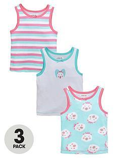 ladybird-girls-polar-bear-print-vests-3-pack-12-months-7-years
