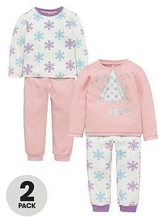 ladybird-girls-festive-fairy-print-pyjamas-2-pack-12-months-7-years