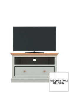 Hannah Corner TV Unit - Sage/Oak-Effect - fits up to 46 inch TV