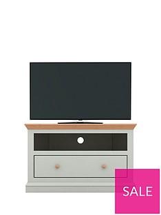 Hannah Corner TV Unit - Sage/Oak-Effect - fits up to 46 inch TV