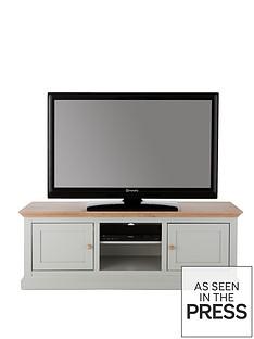 Hannah Wide TV Unit - Sage/Oak-Effect (66 inch)