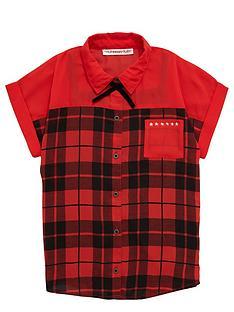 freespirit-girls-studded-tartan-shirt-and-vest-set-2-piece