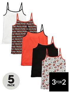 freespirit-girlsnbspchristmas-vests-5-pack
