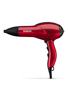 BaByliss 5568BU Salon Light 2100W Red AC Hairdryer