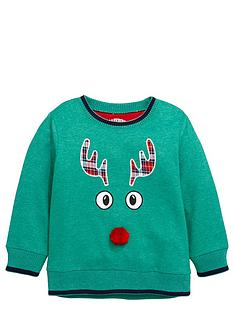 ladybird-boys-tartan-rudolph-sweater-with-pom-pomnbspdetail-12-months-7-years