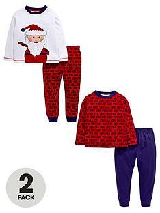 ladybird-boys-santa-ho-ho-ho-pyjamas-2-pack-12-months-7-years