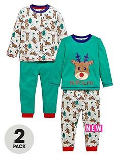 ladybird-boys-rudolph-print-pyjamas-2-pack-12-months-7-years