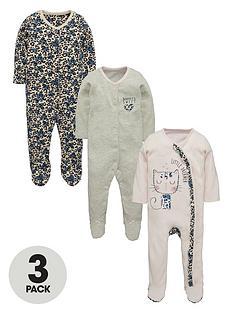 ladybird-baby-girls-kitty-sleepsuitsnbsp3-pack