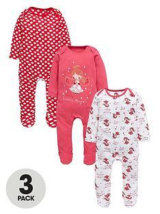 ladybird-baby-girls-3-pack-christmas-sleepsuits