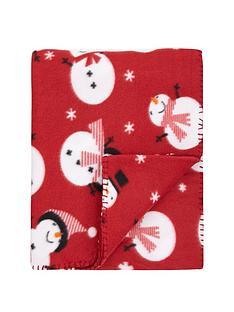 hamilton-mcbride-christmas-snowman-fleece-throw-130x150