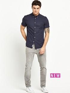 river-island-river-island-twill-short-sleeve-mens-shirt
