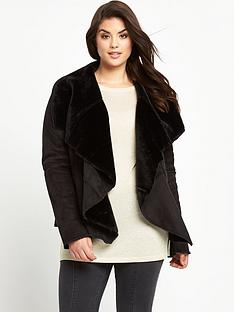 so-fabulous-suedette-faux-fur-lined-waterfall-coatnbsp
