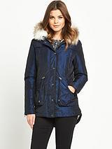 Two Tone Parka Coat