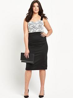 so-fabulous-so-fabulous-lace-top-elastic-strap-bodycon-dress