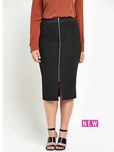 so-fabulous-so-fabulous-zip-front-textured-pencil-skirt