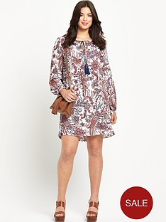 so-fabulous-so-fabulous-tassel-front-print-tunic-dress