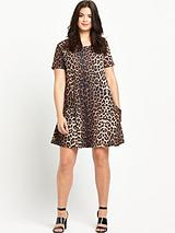 So Fabulous Crepe Jersey Print Pocket Swing Dress