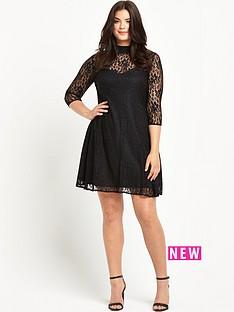 so-fabulous-so-fabulous-turtle-neck-lace-swing-dress