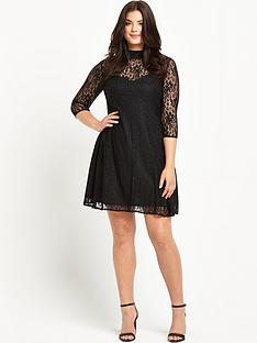 so-fabulous-turtle-neck-lace-swing-dress