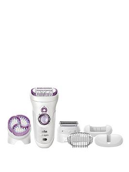 Photo of Braun silk-epil 9961 wet & dry epilator with skin spa and sonic exfoliation system