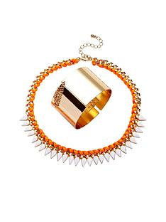 2pk-neon-necklace-and-gold-chain-drop-cuff-nbsp