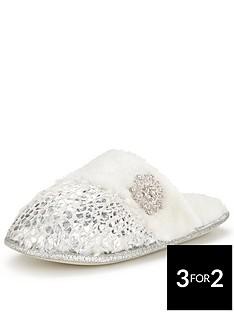 sorbet-hydrangea-foil-jewel-mule-slipper-silver-cream