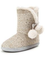 Buttercup Knitted Faux Fur Lined Slipper Boot