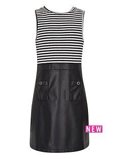 river-island-girls-a-line-stripe-and-pu-dress