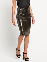 BodyconSequin Midi Skirt