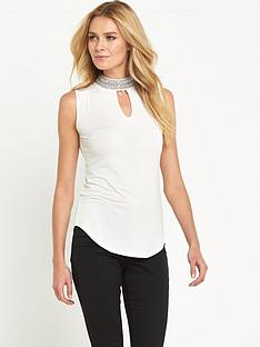 v-by-very-high-neck-embellished-jersey-top