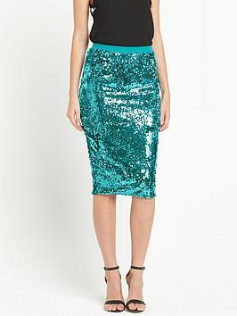 V by Very Sequin Midi Skirt