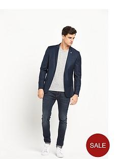 river-island-navy-check-slim-suit-jacket