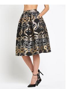 ted-baker-snake-jacquard-full-skirt
